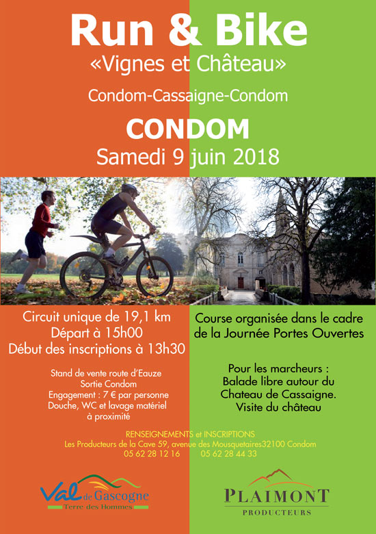 Affiche run and bike 2018