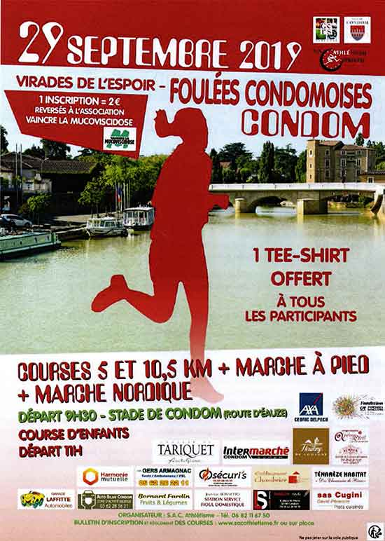 affiche foulees condom 2019