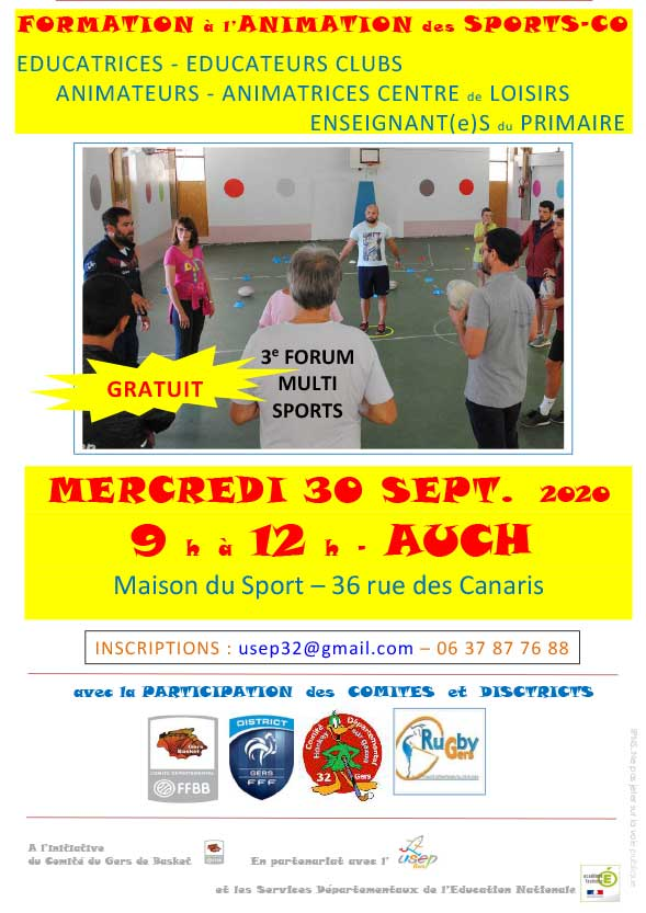 forum multi sports 2020 AFFICHE sept 2020